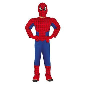 Boys Muscle Spider Superhero Fancy Dress Costume