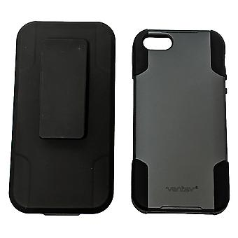 Sprint Shell Holster Combo para iPhone 5/5s/SE - Cinza/Preto