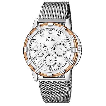 Lotus watches Quartz Analog Woman Watch with 15746/N Stainless Steel Bracelet