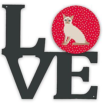 Carolines Treasures  CK5799WALV Tonkinese Cat Love Metal Wall Artwork LOVE