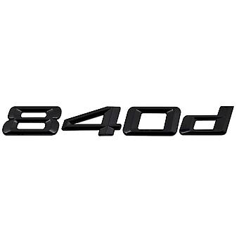 Gloss Black BMW 840d Car Model Rear Boot Number Letter Sticker Decal Badge Emblem For 8 Series G14 G15 G16