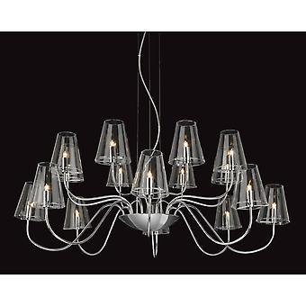 Firstlight Vision Traditionelle Chrome 16 Shade Clear Glass Wandleuchte
