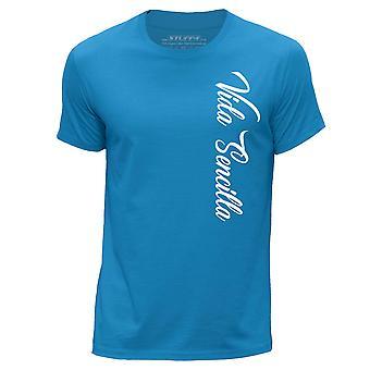 STUFF4 Men's Round Neck T-Shirt/Hipster Fashion / Vida Sencilla/Blue