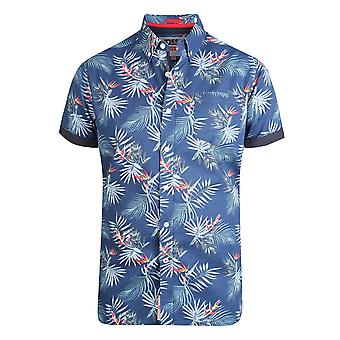 Duke Mens Reuben Kingsize Hawaiian Leaf Shirt