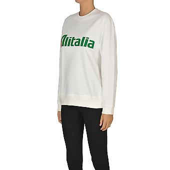Alberta Ferretti Ezgl095025 Dames's White Cotton Sweatshirt