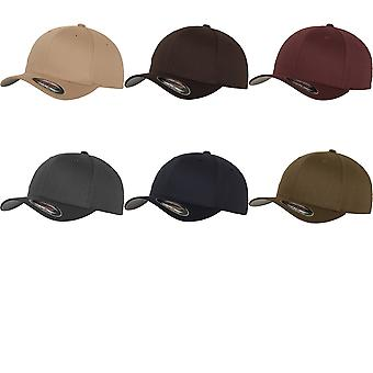 Yupoong Mens Flexfit Fitted Baseball Cap (Pack of 2)