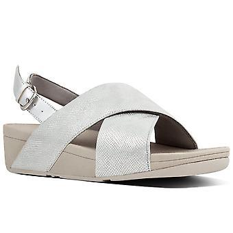 FitFlop™ Lulu Cross Backstrap Womens Wedge Sandals