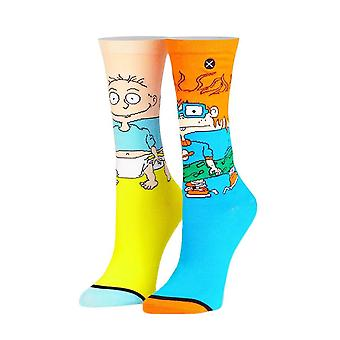 Women's Rugrats Tommy and Chuckie Sublimated 360 Crew Socks