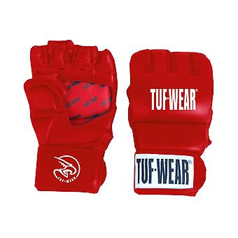 Tuf Wear Training Leather Grappling Glove 7oz Red