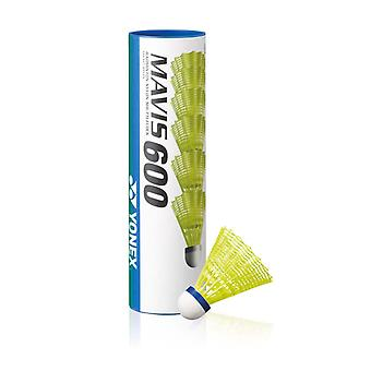 Yonex Mavis 600 Badminton Shuttlecocks Shuttles (Tube of 6) Yellow