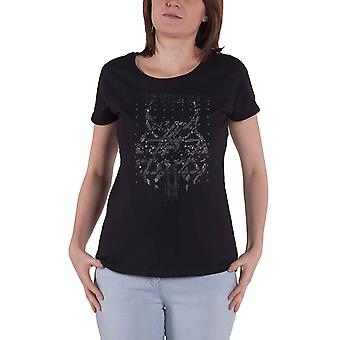 Disturbed T Shirt Evolution Omni Foil Logo new Official Womens Skinny Fit Black