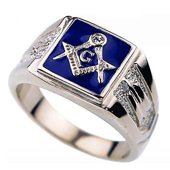 Masonic zirconia ring