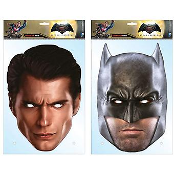Batman v Superman: Dawn of Justice Card Party Fancy Dress Masks Twin Pack