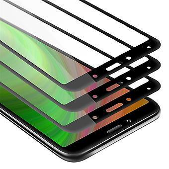 Cadorabo 3x Full Screen Tankfolie voor Xiaomi RedMi 7A - 3 Pack Tempered Display Beschermend glas in 9H Hardheid met 3D Touch
