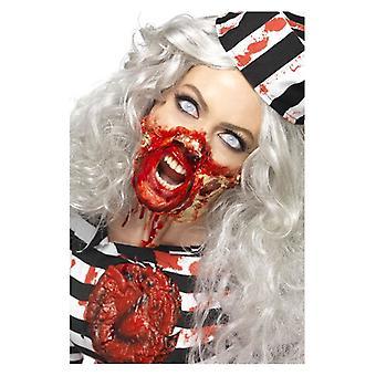 Horror Zombie flydende Latex Kit, assorterede farver, med 4 farve Make Up gryder & 4 svamp, 4 x 29.57 ml 1 U.S. fl.oz Fancy kjole tilbehør