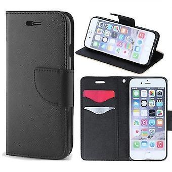 iPhone 11-älykäs fancy Flip Case mobiili lompakko-musta