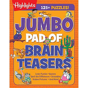 Jumbo Pad of Brain Teasers by Edited by Highlights