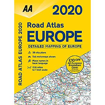 AA Road Atlas Europe 2020 - 9780749581435 Book