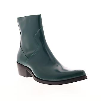 Calvin Klein Alden Box Calf  Mens Green Casual Dress Boots