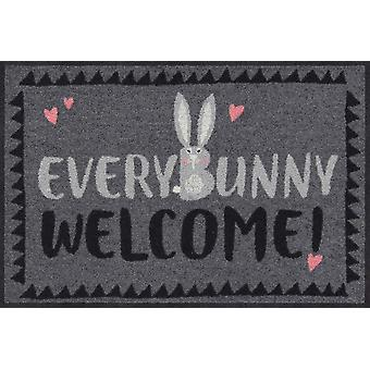 Salonloewe Doormat EveryBunny 50 x 75 cm washable dirt mat