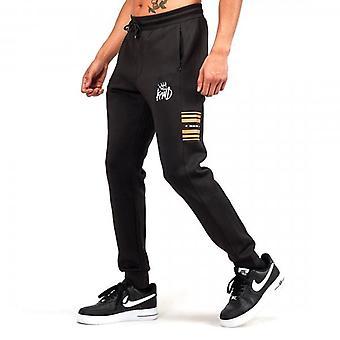 Kings Will Dream Vez Black/Gold Poly Jog Pants