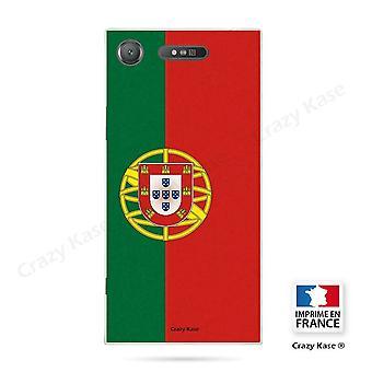 Rumpf für Sony Xperia Xz1 Flexible Muster portugiesische Flagge