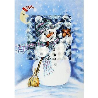 Orchidea Cross Stitch Card Kit - Frosty Snowman