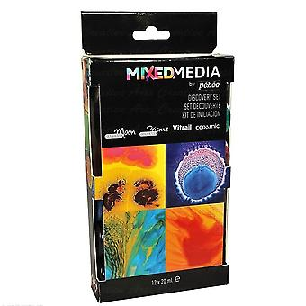 Pebeo Mixed Media Discovery Set 12 x 20ml