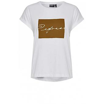 b.young White Front Design T-Shirt