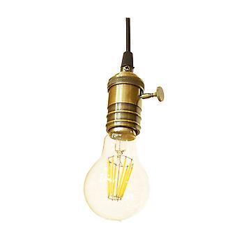Jandei Lamp pendentif rétro cap E27 bronze