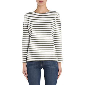 Saint James 0237chneigealguechine Women's White Cotton Sweater