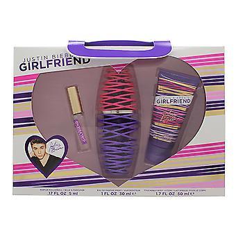 Justin Bieber tyttö ystävä lahja setti 30ml EDP + 50ml Body Lotion + 5ml EDP Rollerball