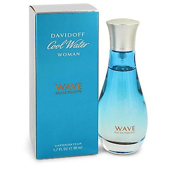 Cool Vatten Wave Eau De Toilette Spray Av Davidoff 1,7 oz Eau De Toilette Spray