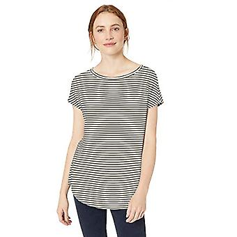 Daily Ritual Women's Supersoft Terry Dolman-Sleeve Boat-Neck Shirt, Black, X-...