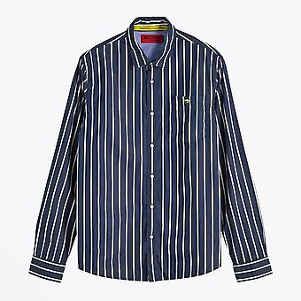Scotch & Soda  - Cotton Stripe Shirt - Blue/White