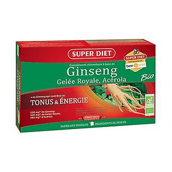 Ginseng - Royal jelly - Acerola 20 bulbs
