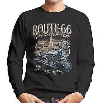 Route 66 Feel The Freedom Men's Sweatshirt