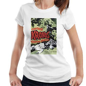 ハンマーホラー映画キャプテンクロノスクラシックポスター女性&アポ;s Tシャツ