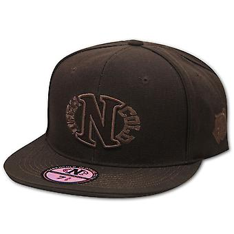 Darkncold Egg Logo Fitted Baseball Cap Brown