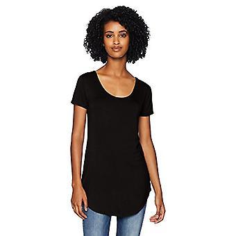 Marka - Daily Ritual Women&s Jersey Short-Sleeve Scoop-Neck Longline T...
