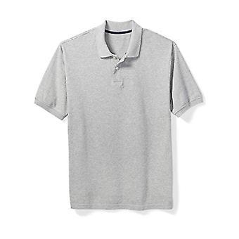 Essentials Men & apos;s كبيرة وطويلة القامة القطن بيكيه بولو قميص تناسب DXL, ضوء ...