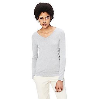Brand - Daily Ritual Women's Jersey Long-Sleeve V-Neck T-Shirt, Light ...