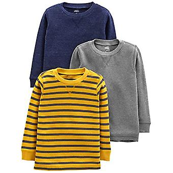 Simple Joys by Carter's Boys' Toddler 3-Pack Thermal Long Sleeve Shirts, Gray...