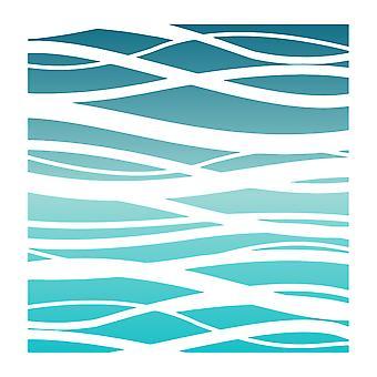 LDRS Creative Ocean Waves 6x6 Inch Stencil