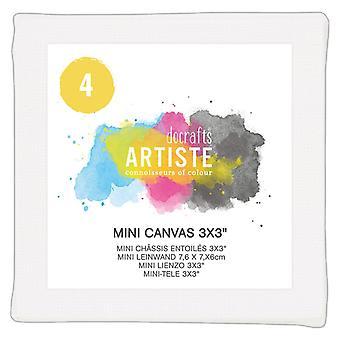 Docrafts Mini Canvas 3x3 Tuuman (4pk) (DOA 101104)