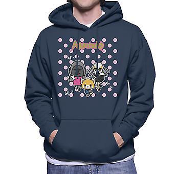 Aggretsuko Gori Washimi Retsuko Pink Polka Dots Men's Hooded Sweatshirt