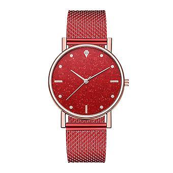 HEZHUKEJI Watch Quartz Ladies - Luxury Anologue Movement for Women Red