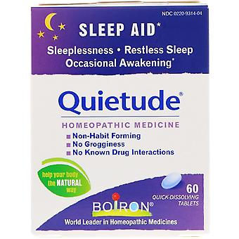Boiron, Quietude, Sömnhjälp, 60 snabbupplösande tabletter