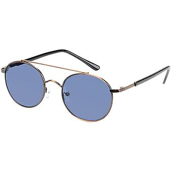 Sunglasses Unisex Gold with Blue Lens (AZ-17-602)