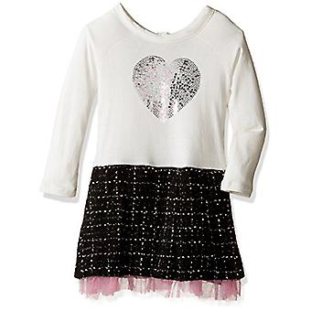 kensie Little Girls' Casual Dress (More Styles Available), KR75 Vanilla, 4